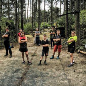 generation athletic kids training in der natur